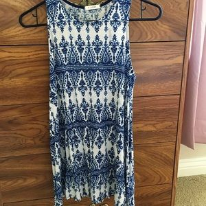 Other - Navy blue and white cute pattern short dress
